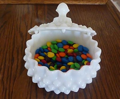 Candy Dish with M&Ms