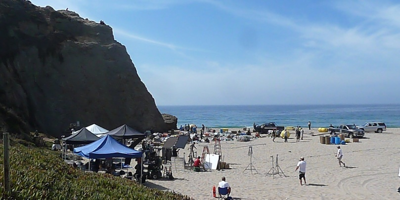 Filming of Bones at Pt. Dume