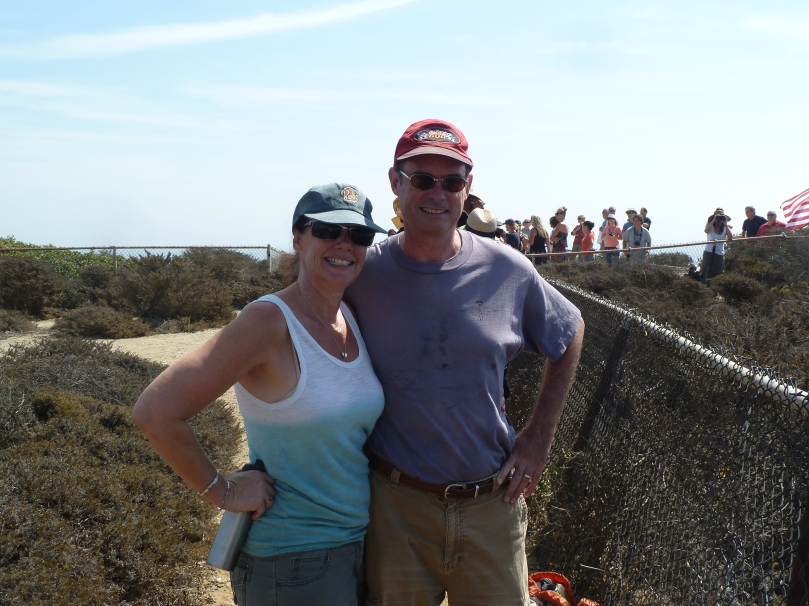Waiting for Endeavour to fly over Malibu on September 21, 2012