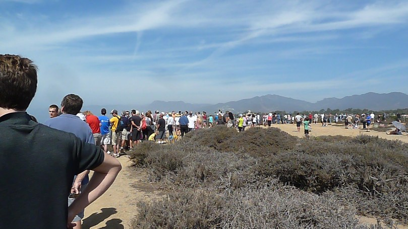 Waiting for the space shuttle to fly over
