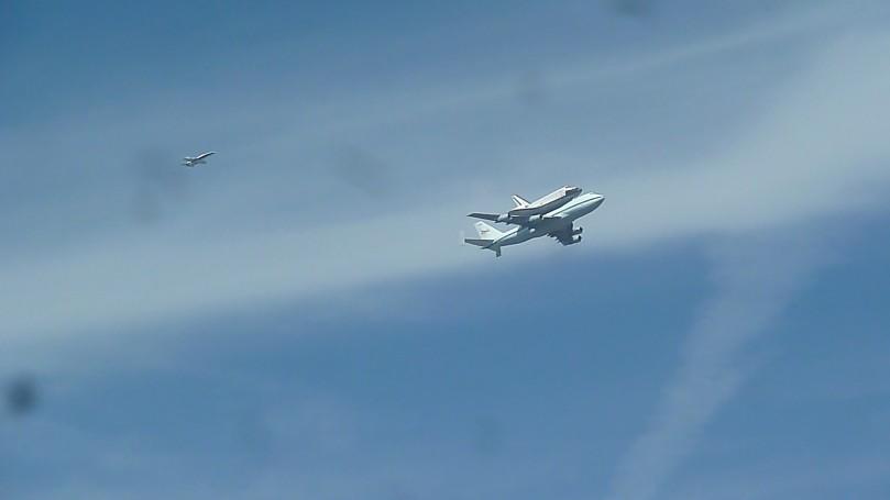 Space Shuttle Endeavour on September 21, 2012 piggy back on 747