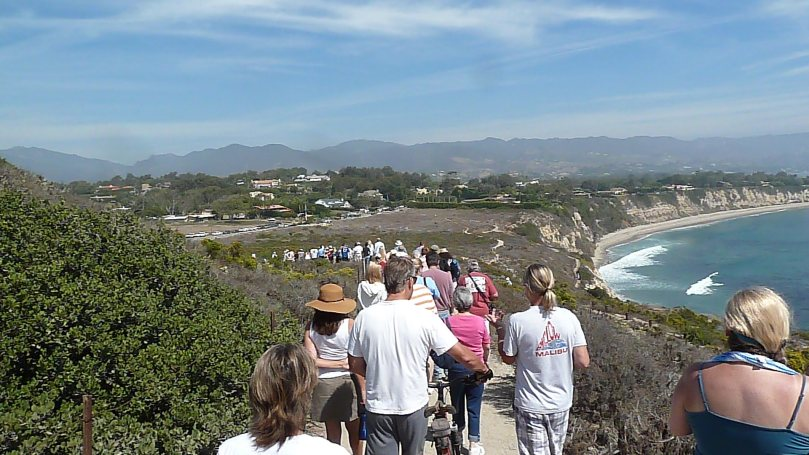 Mass exodus of Pt. Dume after Endeavour flight