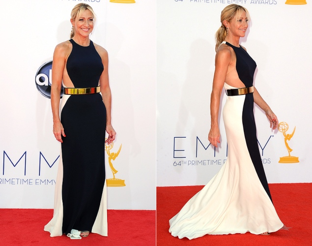 Edie Falco on the red carpet at 2012 Emmy's