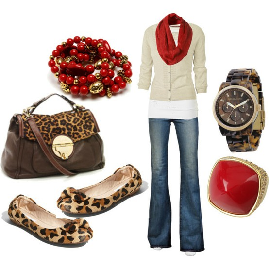 Fall fashion with leopard shoes