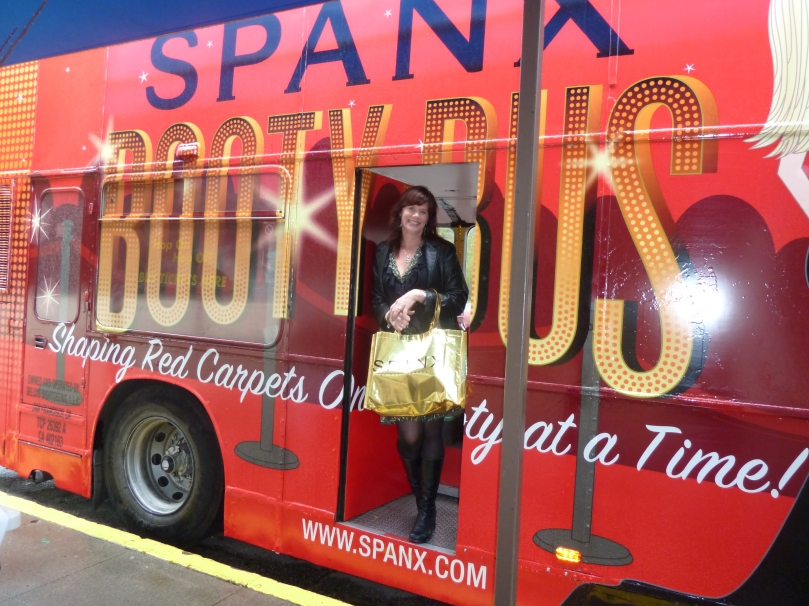 Spanx Booty bus at Beverly Hilton pre-Oscar gifting suite