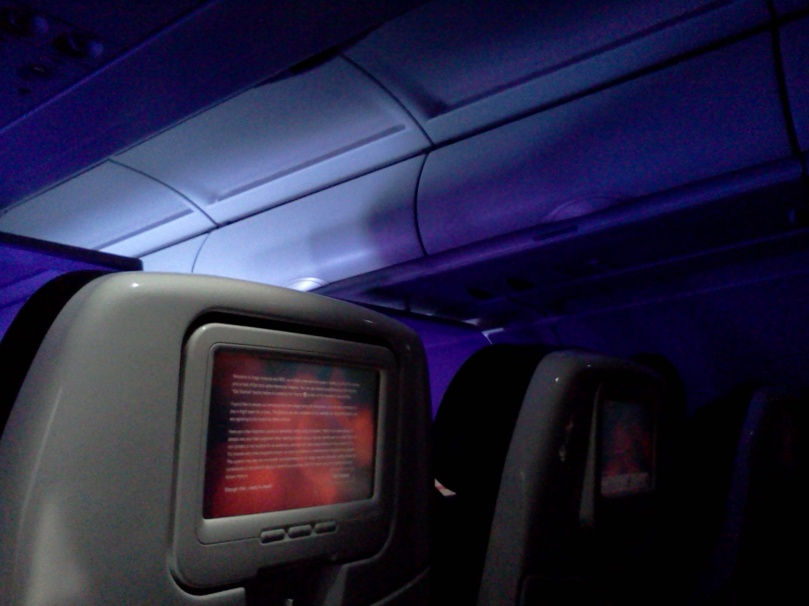 Inside Virgin Airlines plane