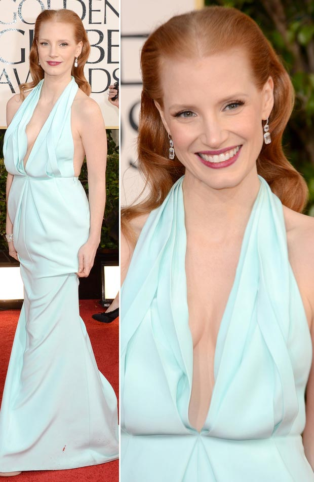 2013GG.jessica-chastain-soft-blue-ck-dress-golden-globes-2013
