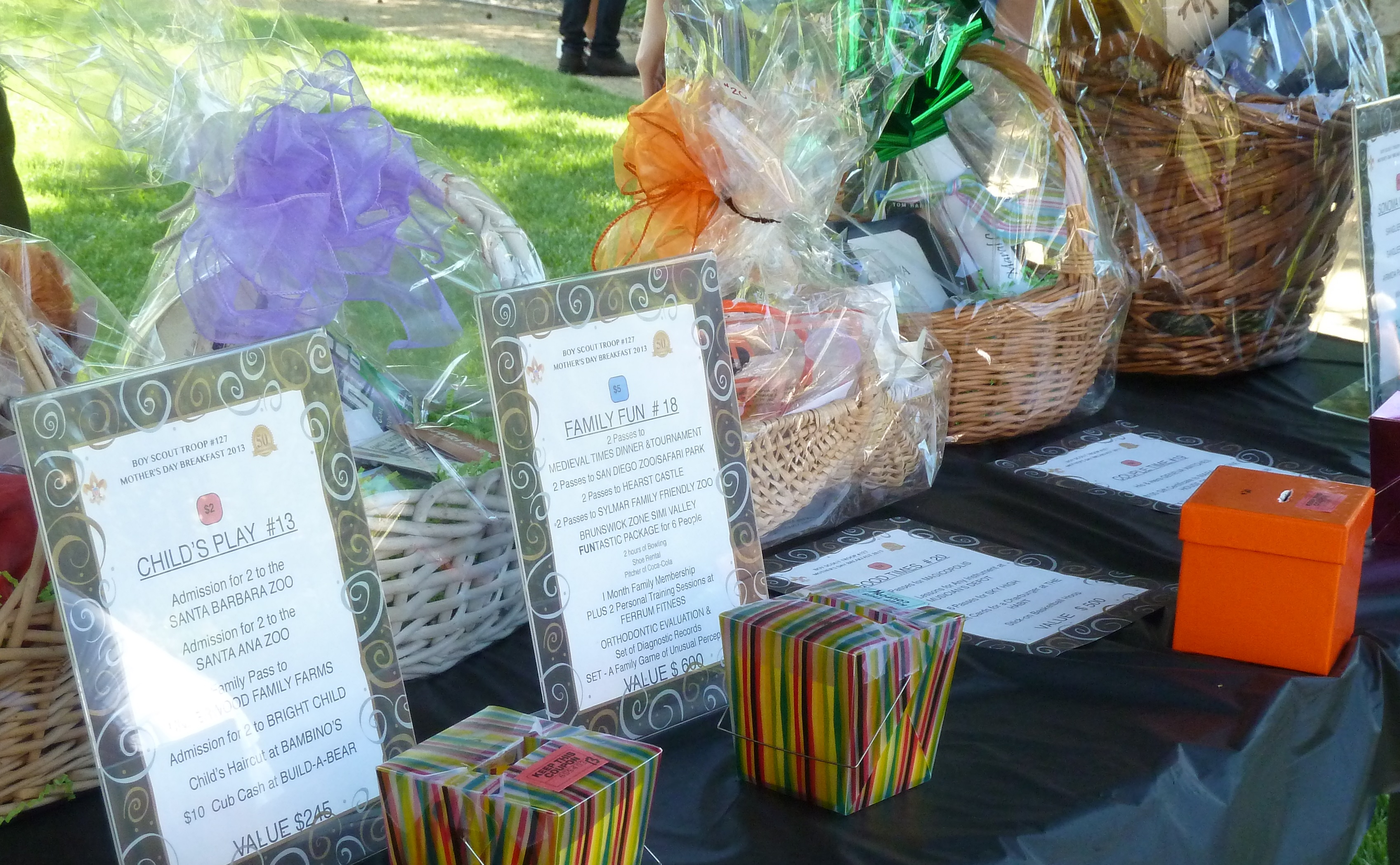 how i spent my mother s day charlene ross raffle gift baskets