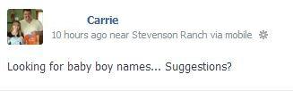 Facebook Baby Names