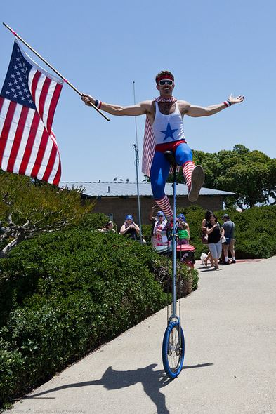 American-Flag-unicycle