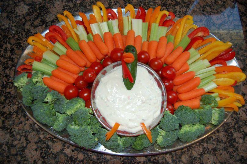 Thanksgiving veggie tray