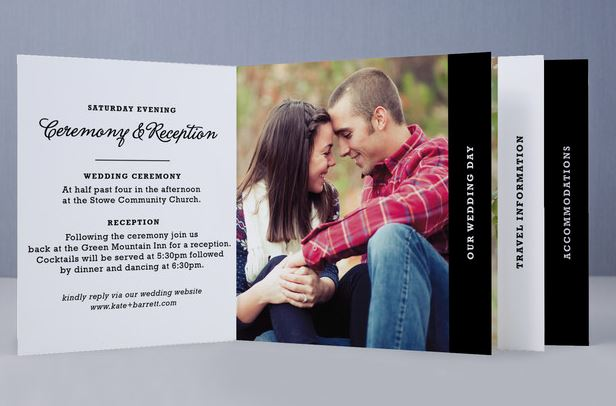 Mini-book-wedding-invitation-open