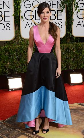 Sandra Bullock Golden Globes red carpet