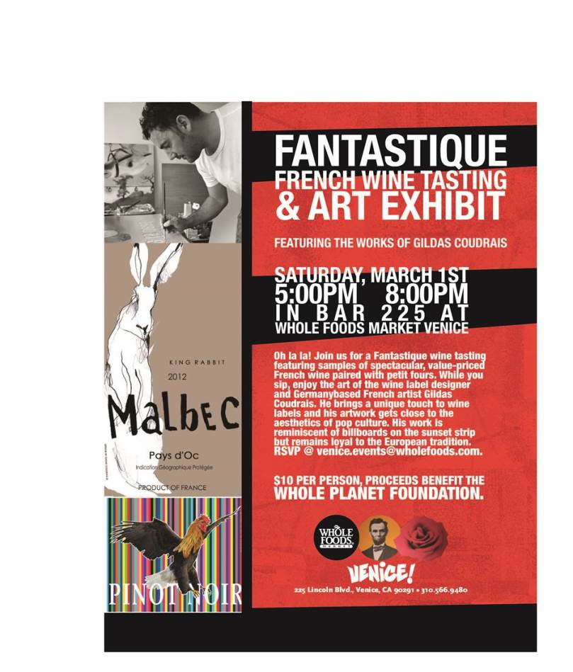 Fantastique French Wine Tasting and Art Exhibit