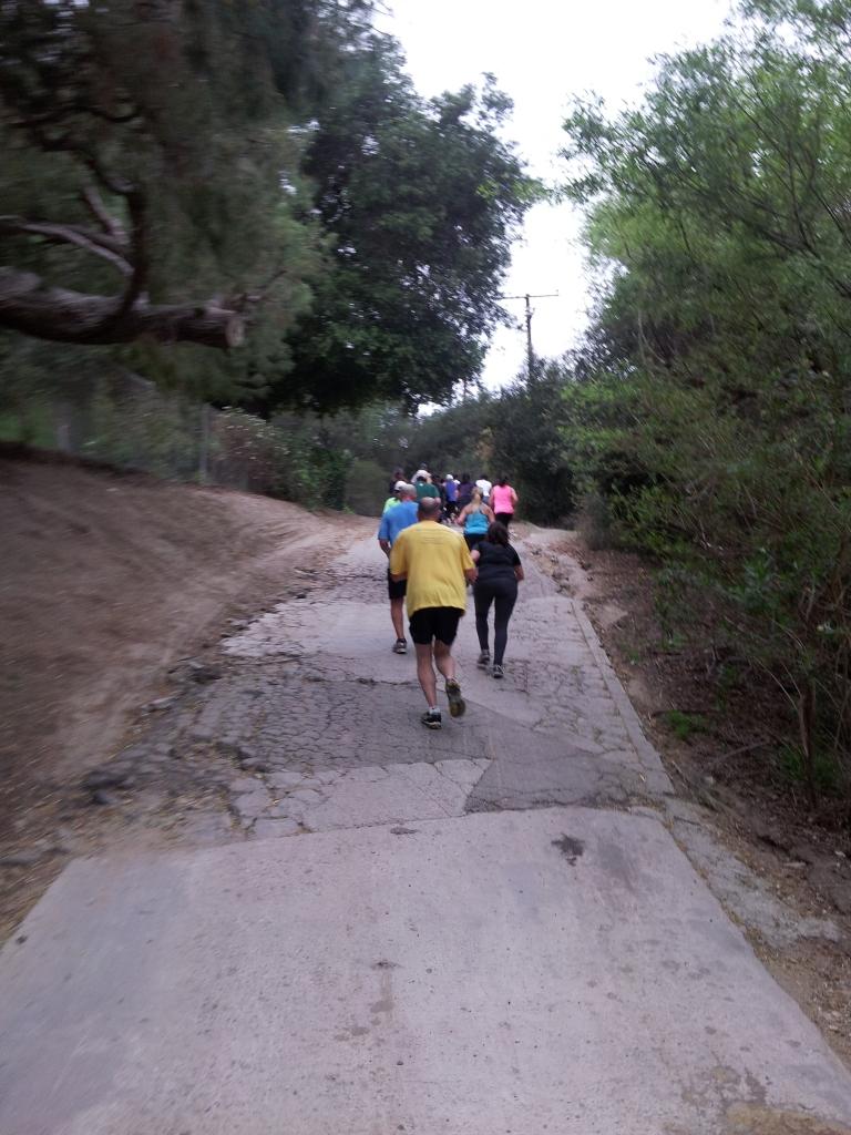 running hill