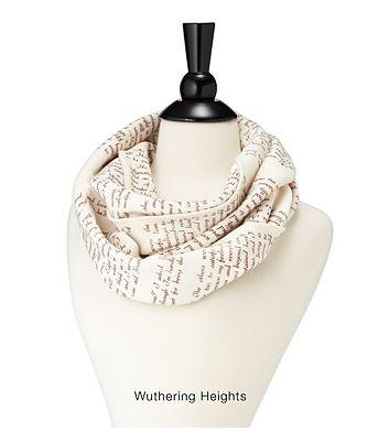Uncommon Goods literary scarf