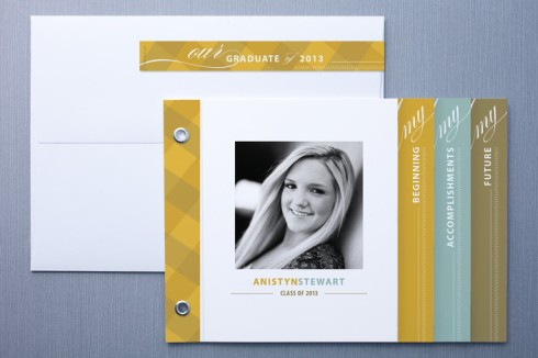 Graduation announcement booklet