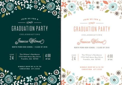 whimsical graduation announcement