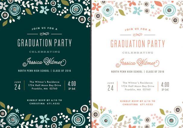 whimsical graduation announcement