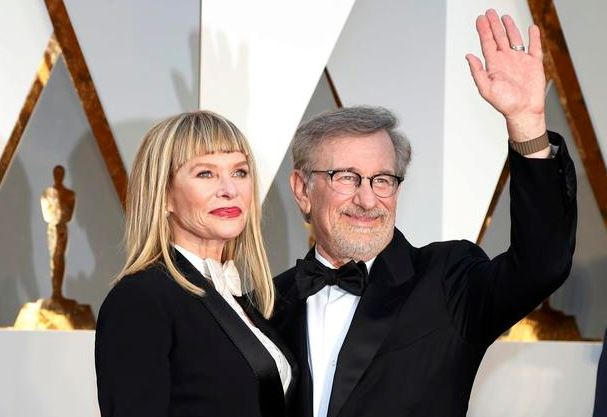 Kate Capshaw and Steven Spielberg academy awards