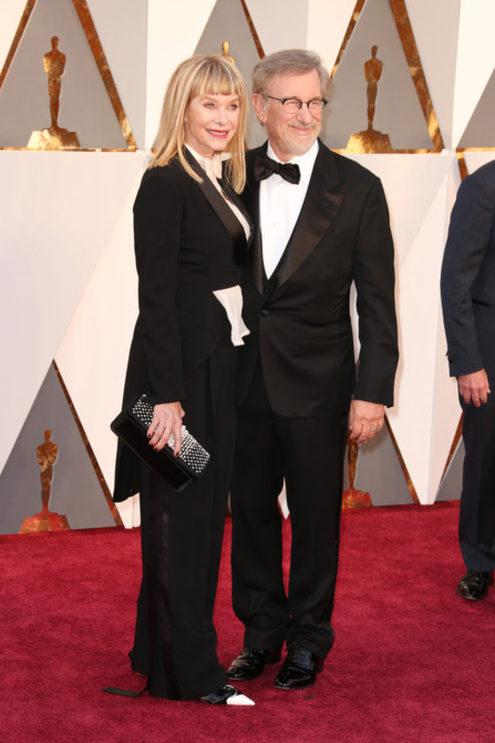 Kate Capshaw and Steven Spielberg academy awards red carpet