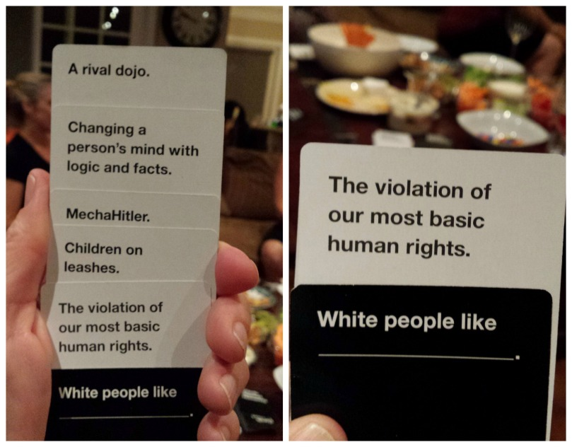 Cards Against Humanity White People Like