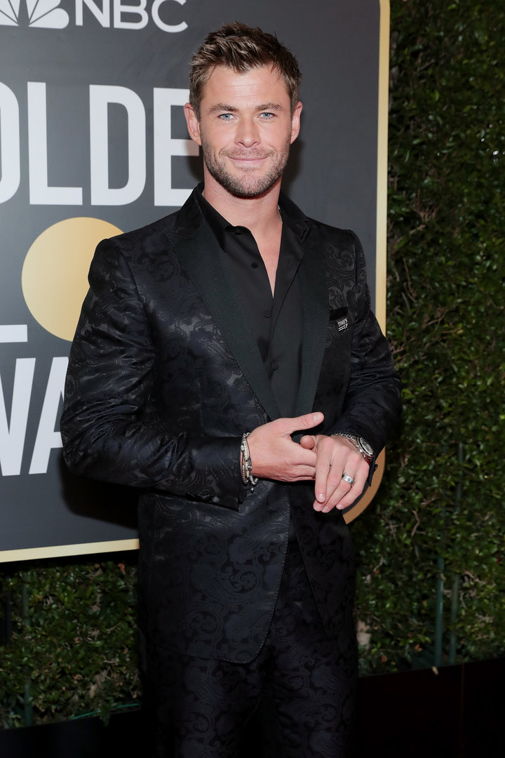 2018 Golden Globe Red Carpet Chris Hemsworth