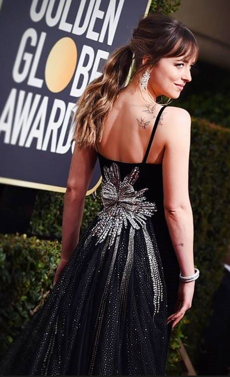 2018 Golden Globe Red Carpet Dakota Johnson