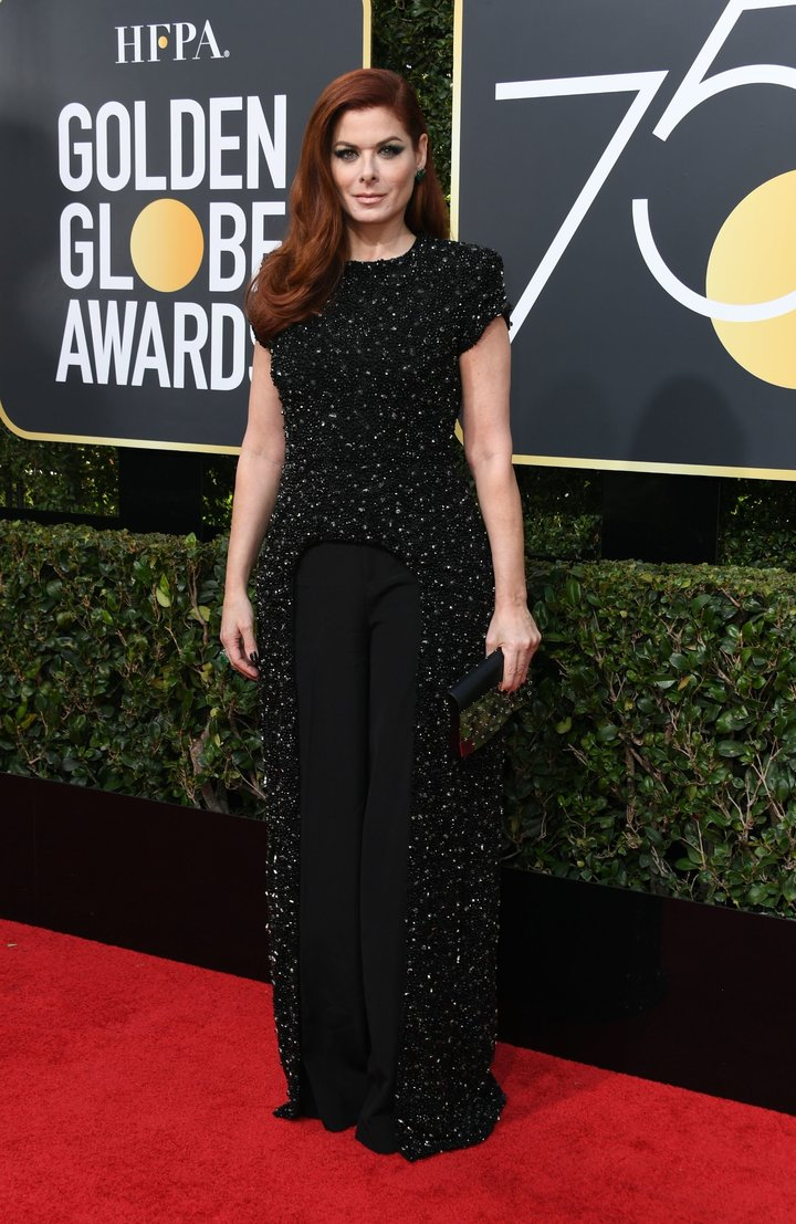 2018 Golden Globe Red Carpet Debra Messing