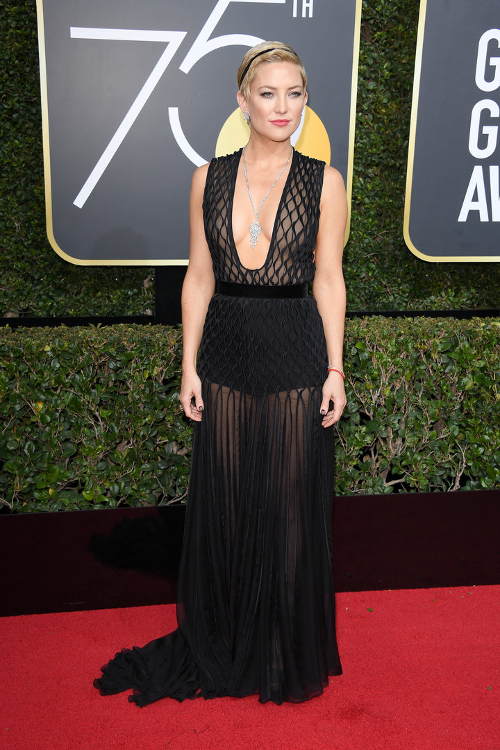 2018 Golden Globe Red Carpet Kate Hudson