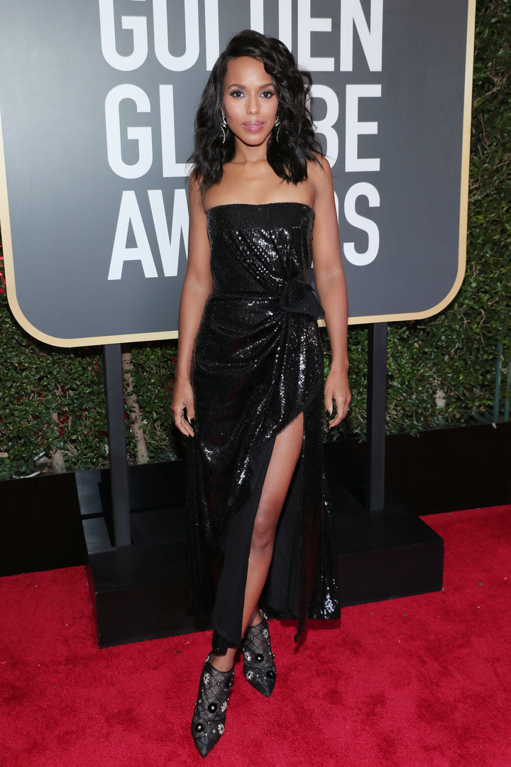 2018 Golden Globe Red Carpet Kerry Washington