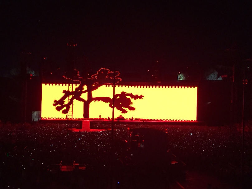 Joshua Tree tour stage