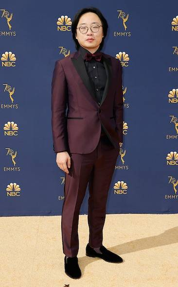 jimmy-o-yang-2018-emmy-awards-red-carpet-arrivals-fashion