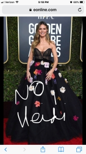 heidi klum golden globe red carpet