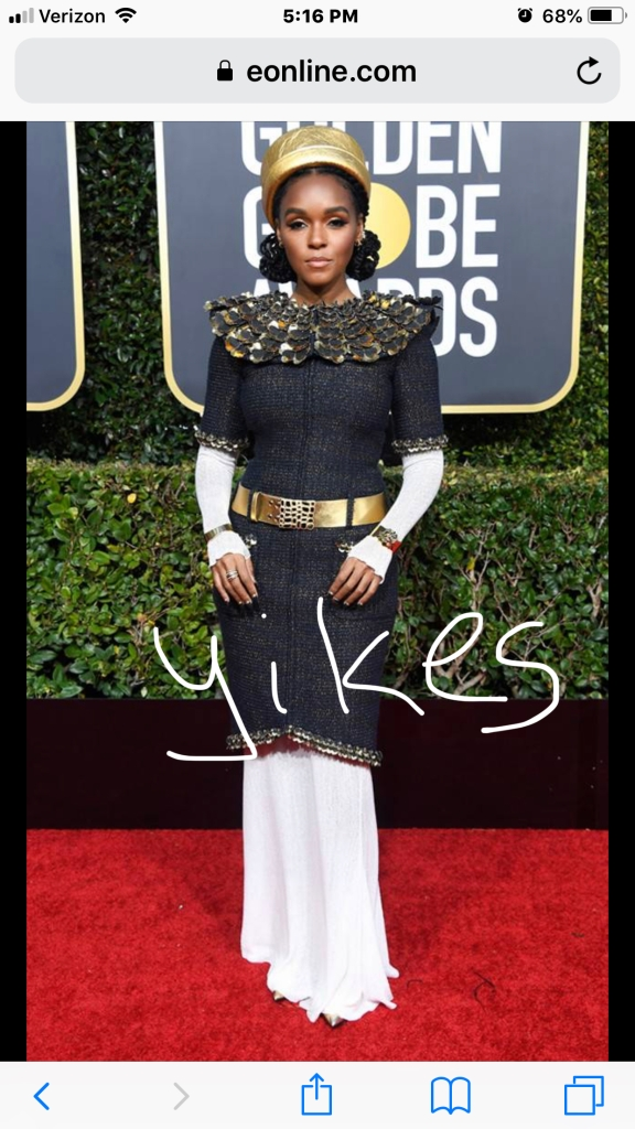 janelle monae golden globes red carpet